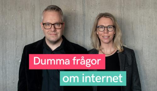 Måns Jonasson och Jannike Tillå i podden Dumma frågor om internet